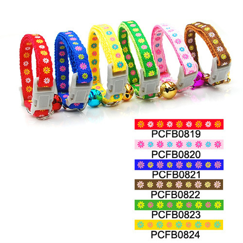 Pet Collar Dog Neck Ring Collar 0.8 Centimeter Multi-color Printed Small Neck Band (Release Buckle)-Pet Supplies