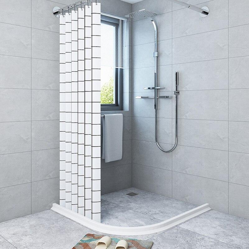 Shower Door Dam Water Stopper Collapsible Shower Threshold Water Barrier For Bathroom Kitchen LAD-sale