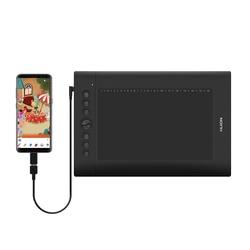 Huion H610 PRO V2 8192 Livelli Digitale Tablet Grafica Disegno Tablet Penna senza Batteria Tablet con OTG per PC /Android