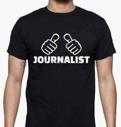 100% cotton Funny men T shirt Women Fashion tshirt journalist T-Shirt Unisex cool white and black shirts