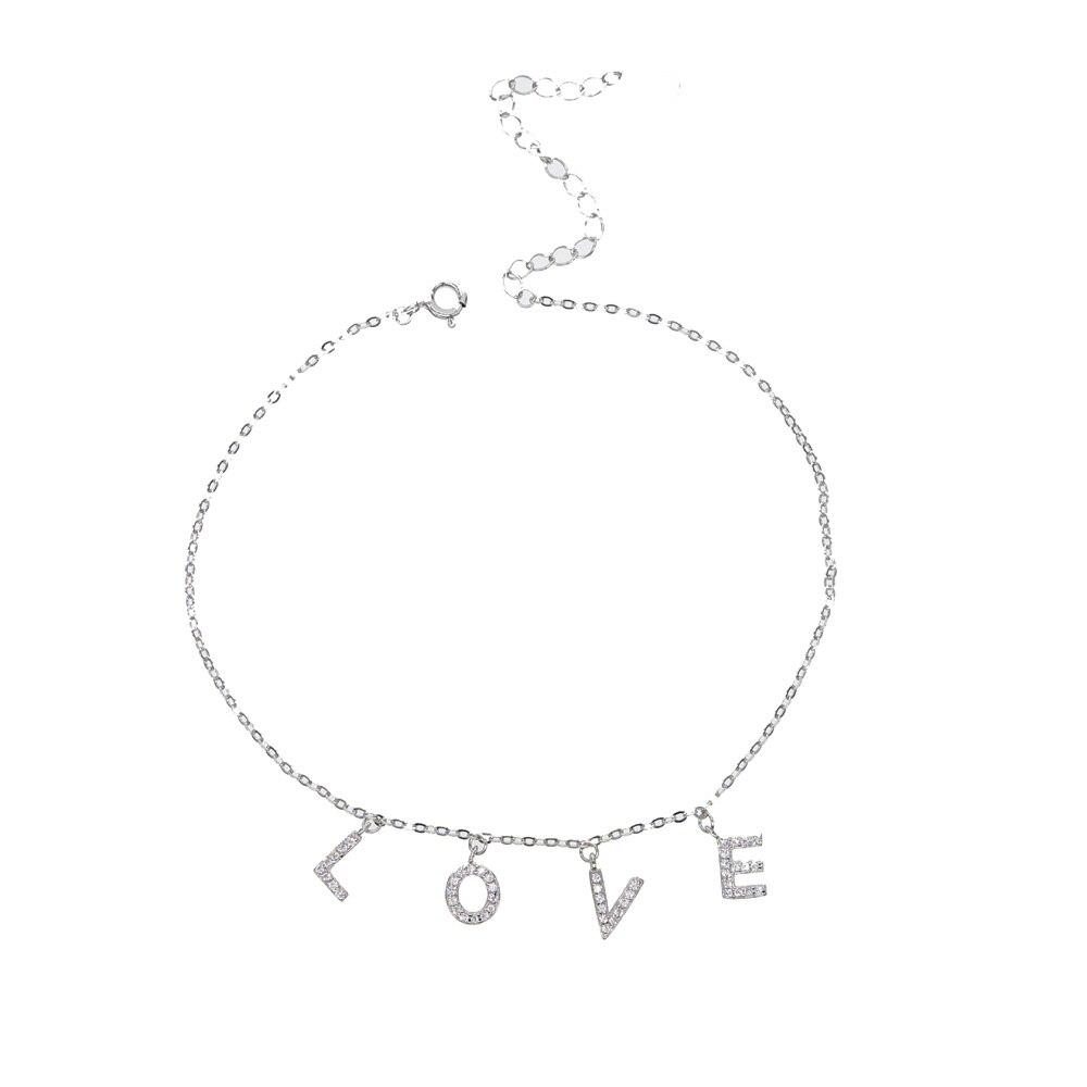 Новые пляжные ювелирные изделия, сексуальные браслеты с сердечками, серебряная цепочка на ногу, 100% 925 пробы, серебро, Изящные Простые Женские Ювелирные изделия
