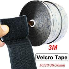 3/1Meter  Velcros Self Adhesive Fastener Tape Hook Loop Magic Tape Round Magic Sticker White Black Round Coins Strong Glue