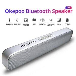 Image 1 - Okepoo altoparlante portatile Bluetooth S808 supporto microfono TF Card FM AUX 2000mAh batteria altoparlante Stereo Wireless Bluetooth HIFI