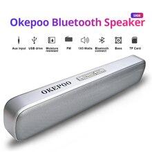 Okepoo przenośny głośnik Bluetooth S808 obsługa mikrofonu karta TF FM AUX 2000mAh bateria radio HIFI bezprzewodowy głośnik Bluetooth