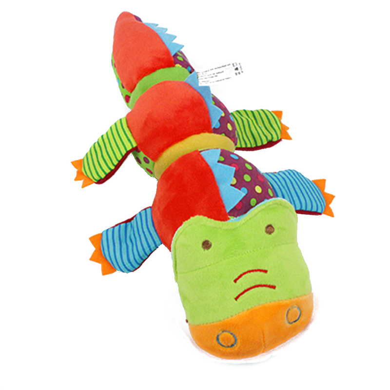 Animal Baby Rattles Toys Long Rotate Crocodile With Ring Bell Comfort Animals Plush Doll Soft Stuffed Educational Birthday Gift