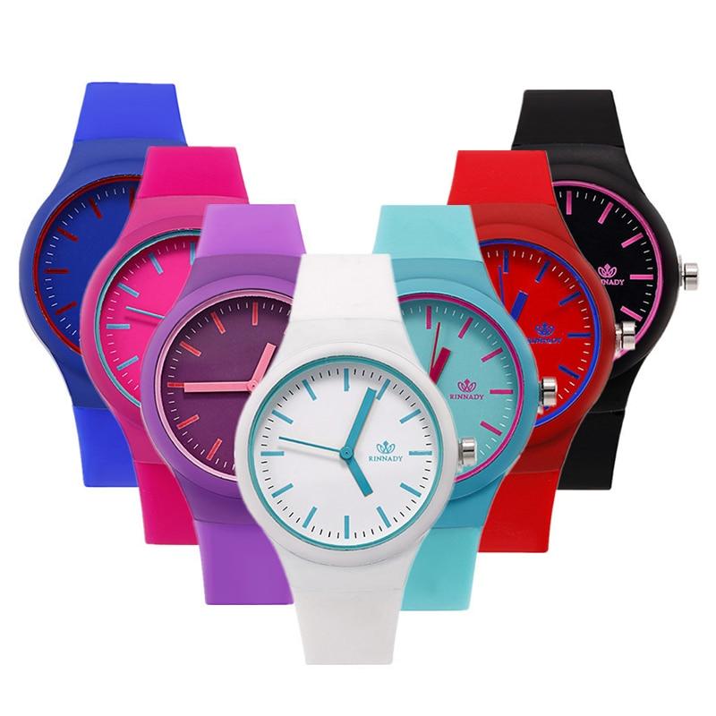 Women Watches Unisex Simple Transparent Silicone Fashion Number Quartz Watches Wrist Watch Girls Ladies Colorful Wristwatch