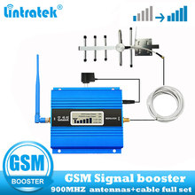 Lintratek GSM 900Mhz 2G Repeater Cellular amplifier gsm 900 2g  Mobile Phone Signal Booster Repeater  + Yagi Antenna full kit