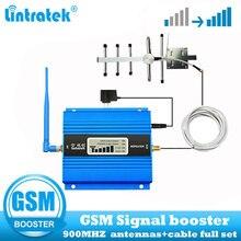 Lintratek gsm 900mhz 2g repetidor amplificador celular gsm 900 2g repetidor de sinal do telefone móvel + antena yagi kit completo