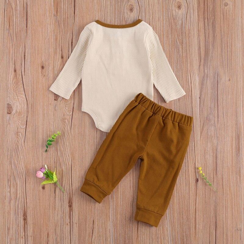 outono conjunto de roupas manga longa algodao 05