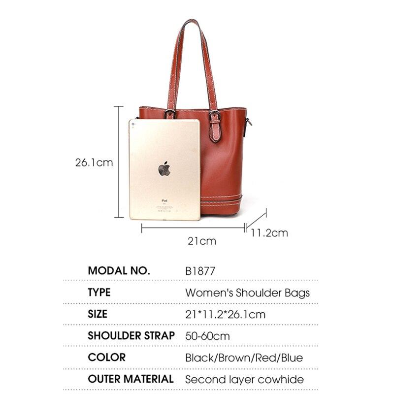 BISONJS роскошные сумки из коровьей кожи женские сумки дизайнерские женские модные сумки через плечо большая сумка через плечо B1877
