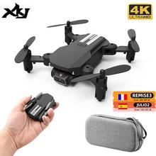 XKJ 2021 nowy Mini Drone 4K 1080P kamera HD WiFi Fpv ciśnienie powietrza wysokość trzymaj czarny i szary składany Quadcopter RC Dron zabawka tanie tanio CN (pochodzenie) About 80 meters 1080p FHD 2K QHD 480P SD Mode1 4 kanały 7-12y 12 + y Oryginalne pudełko na baterie Instrukcja obsługi