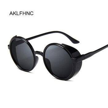 Steampunk من النساء نظارات الرجعية نظارات جولة نظارات الشمس الإناث البخار فاسق خمر أزياء النظارات oculos دي سول