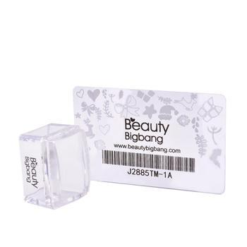 BeautyBigBang 1 zestaw prostokąt galaretki silikonowe paznokci Stamper wyczyść uchwyt Manicure szablon stempla narzędzia Stamper do tłoczenia tanie i dobre opinie 0 03kg Plastic+Silicone Zestawy Silicone Head Size Approx 2 6cm*3 8cm Template J6514TM 1pc nail stamper+1pcScraper Rubber stamper for stamping