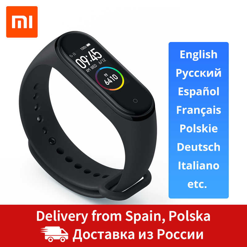 Xiao mi mi Band 4 Smart Band 0,95 zoll AMOLED 120X240 Volle Farbe Screen Bluetooth 5,0 Armband 50m Wasserdicht Smart Armband