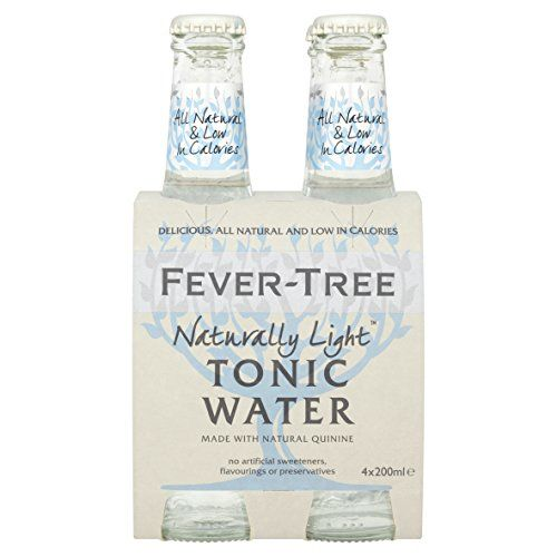 Fever-Tree Naturally Light Tonic Water 4 X 200 Ml (Pack Of 6, Total 24 Bottles)