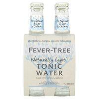 Fever Tree Naturally Light Tonic Water 4 x 200 ml (Pack of 6, Total 24 Bottles)