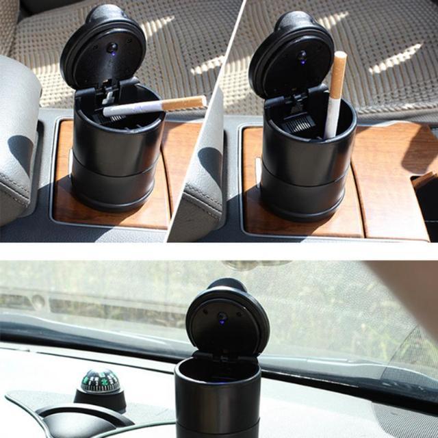 Universal Car Ashtray High Flame Retardant Ashtray For 4s Shop Ashtray Manufacturer Portable Simple Car Ashtray With Light Hot 1