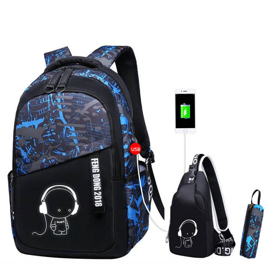 Unisex Casual Daypack Elementary School Bags Travel Bag Backpack for Students