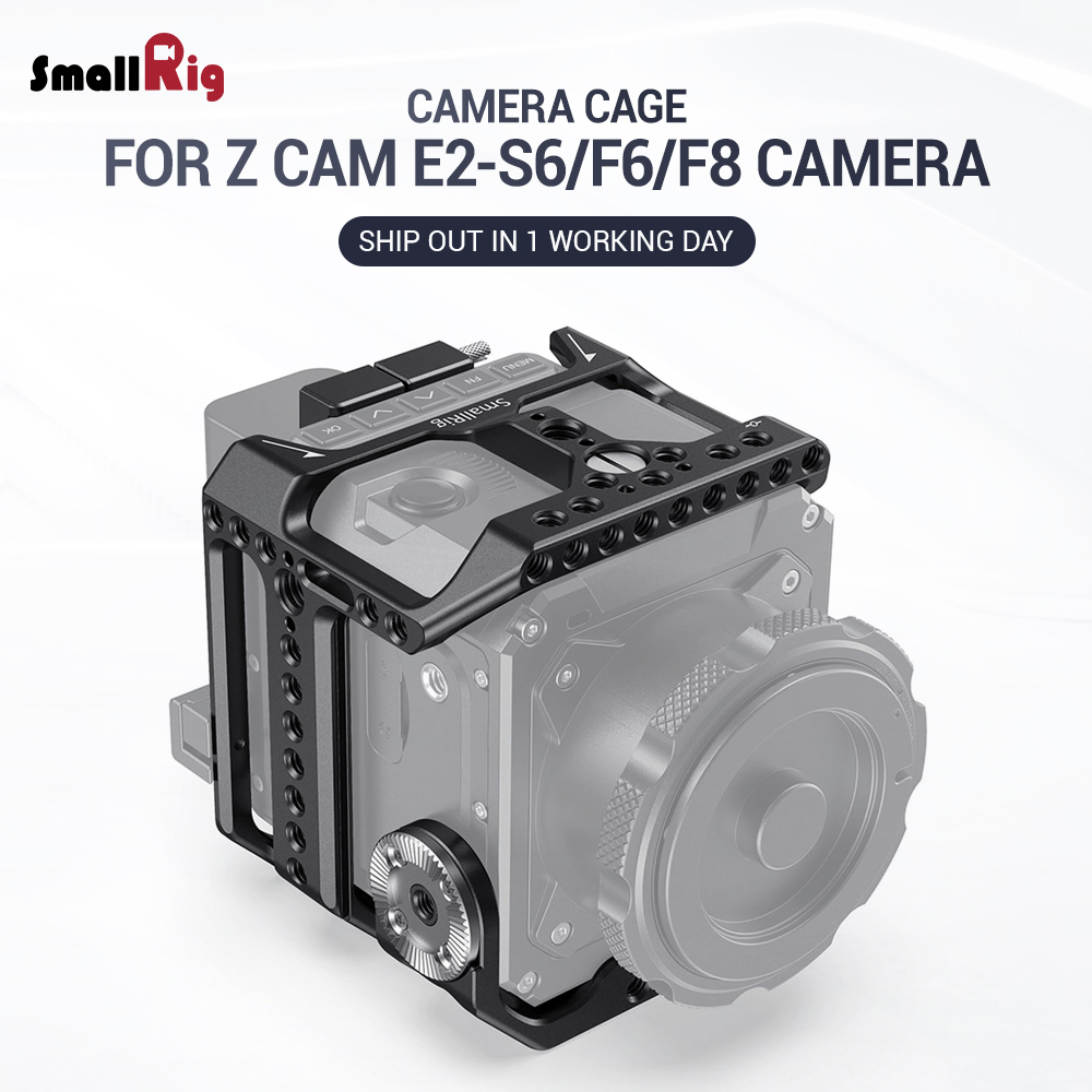 SmallRig S6 Camere Cage For Z CAM E2-S6 / F6 / F8 Camera Form Fitting Full Cage With Arri Rosette For DIY Options 2423
