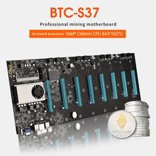 BTC D37 Mining Motherboard 8 GPU PCI E 16X Slots DDR3 Motherboard with USB 2.0 SATA 3.0 Ports Computer Parts