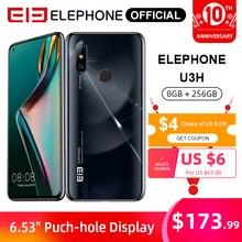 "ELEPHONE U3H Helio P70 Octa Core Smartphone 8GB 256GB 6.53 FHD+ Screen 48MP IMX586 Rear Cam 24MP Selfie Face Unlock Android 10"""