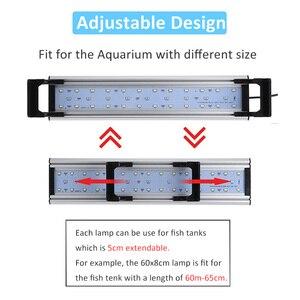 Image 5 - Lumière daquarium éclairage de LED 20 65CM lampe de réservoir de poissons plantes aquatiques lumières Led de pêche décoration dintérieur rvb avec minuterie et gradation