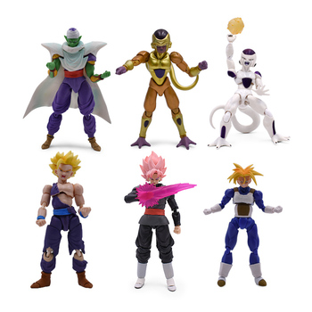 6 Styles Anime Dragon Ball SHF Frieza Vegeta Piccolo Jr Goku Zamasu Trunks PVC Action Figure Doll Model Toy Christmas Gift 52styles pvc amine figma mini dragon ball z goku golden frieza great vegeta zamasu ape vinyl action figure collectible model toy