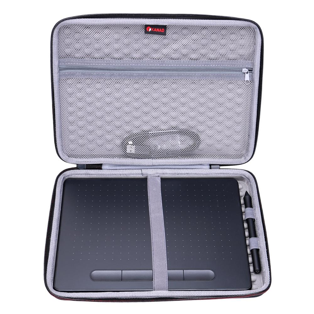 XANAD EVA Hard Case for Wacom Intuos drawing tablet, with free creative software download, 10.4x 7.8 , black image
