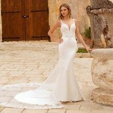 Eightale Русалка свадебное платье из бисера Кружева Спагетти