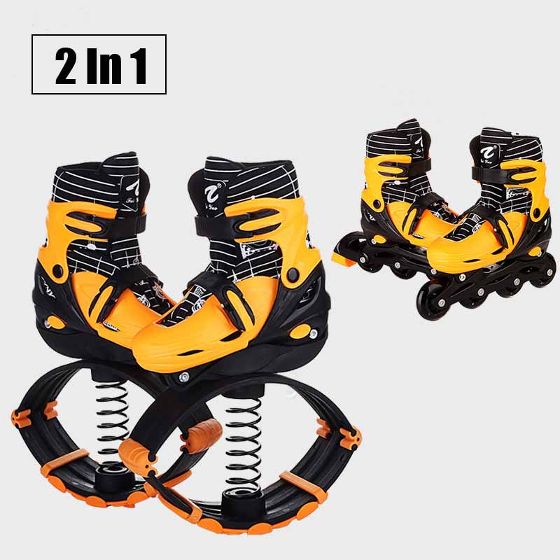 2 In 1 Skate And Kangaroo Jump Shoes Fitness Exercise 30-50kg(66lb-110lb) Space Bouncing Shoes, Factory Outlet Jump Shoes