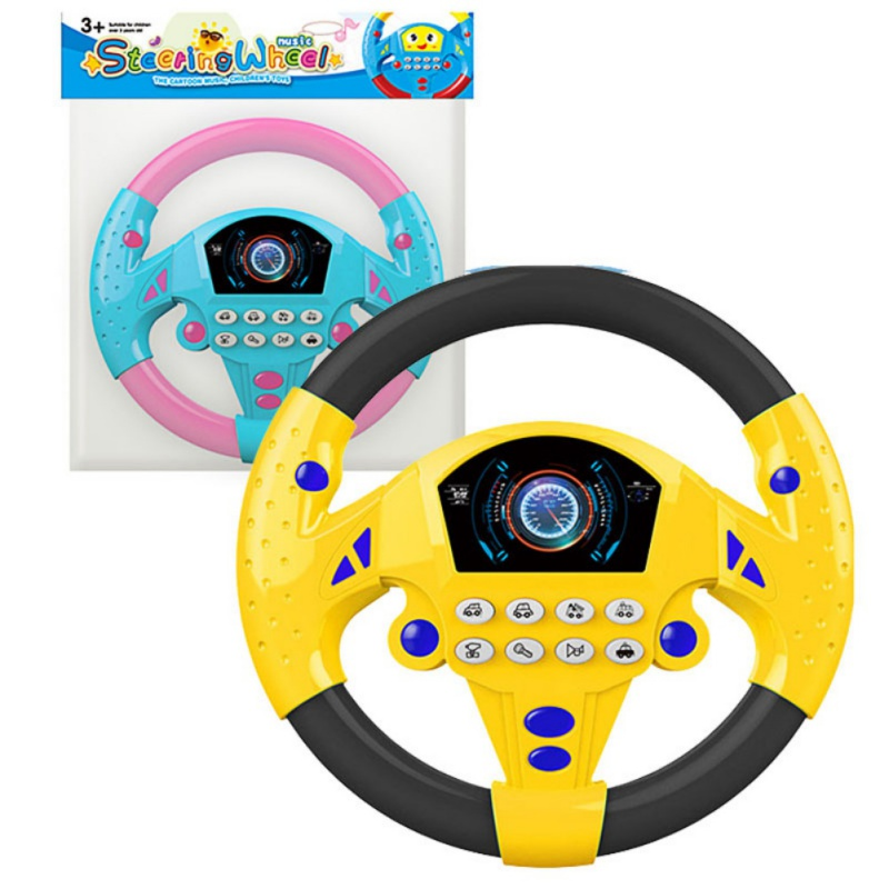 Kids Baby Toys Interactive Toy Children Steering Wheel With Sound Simulation Driving Car Toys