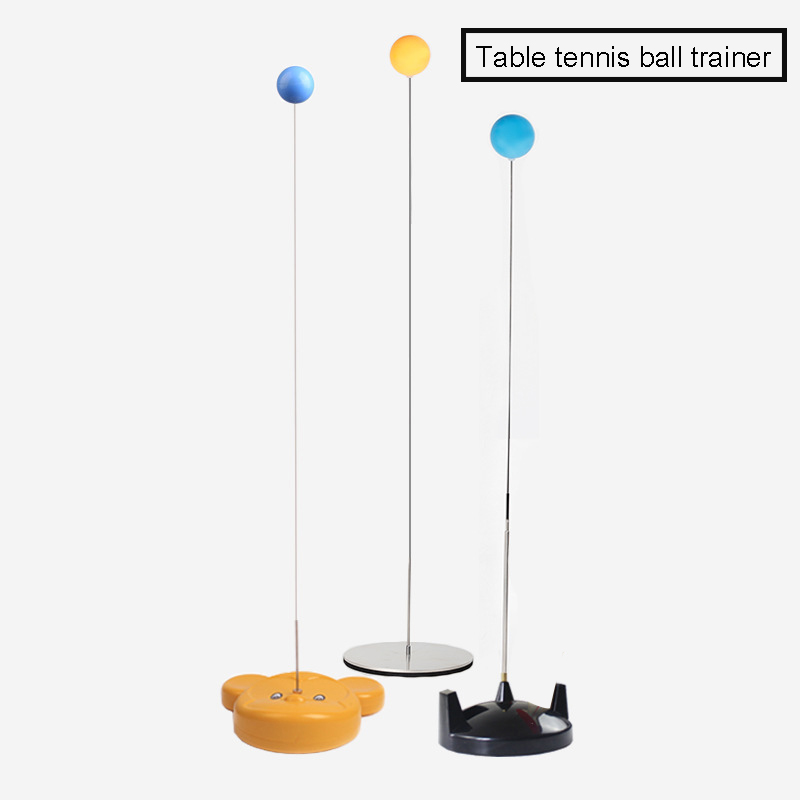 Table Tennis Rebound Trainer Paddle PingPong Training Equipment Rebound Robot Fixed Shaft Rapid Backbound Machine For Adults Children B2Cshop