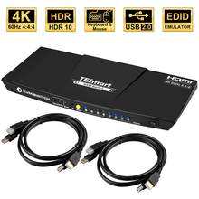 4k 4 portas kvm switch hdmi 4x1 kvm hdmi switch suporta usb 2.0 dispositivo de controle até 4 pc 4 entrada 1 saída hdmi kvm switcher
