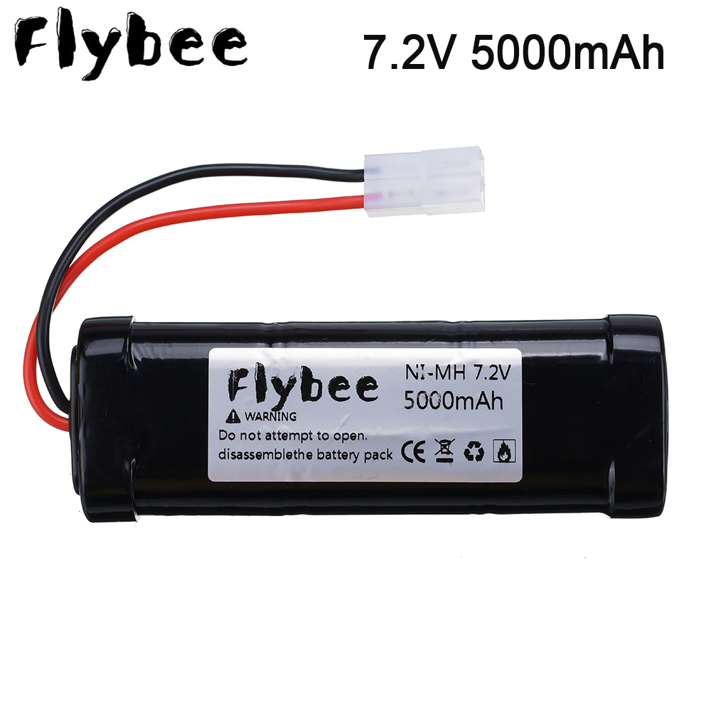 <font><b>7.2V</b></font> 5000mAh Ni-MH Rechargeable Batteries with <font><b>Tamiya</b></font> Discharge Connector Kep-2p Plug for RC Racing Cars Boats Off-road vehicle image