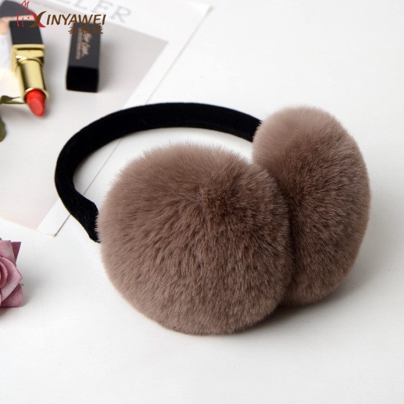 New Solid Color Skin Earmuffs For Lady Autumn And Winter Warm And Comfortable Unisex Ski Skin Headphones Cute.