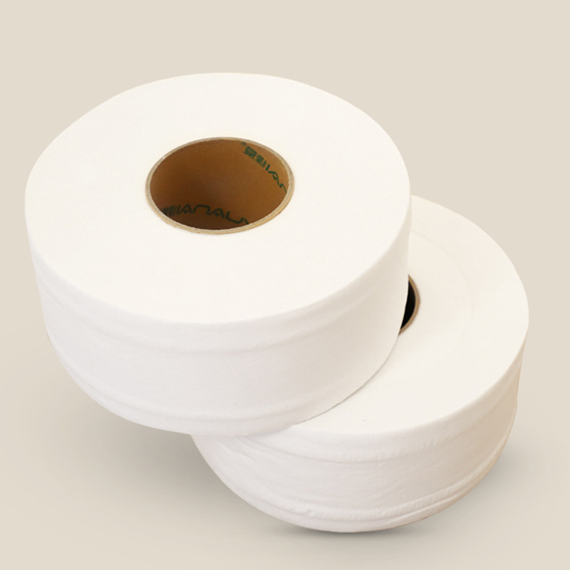 Jumbo Roll Toilet Paper 3-Layer Native Wood Toilet Paper Pulp Home Rolling Paper Strong Water Absorption Household Toilet Paper