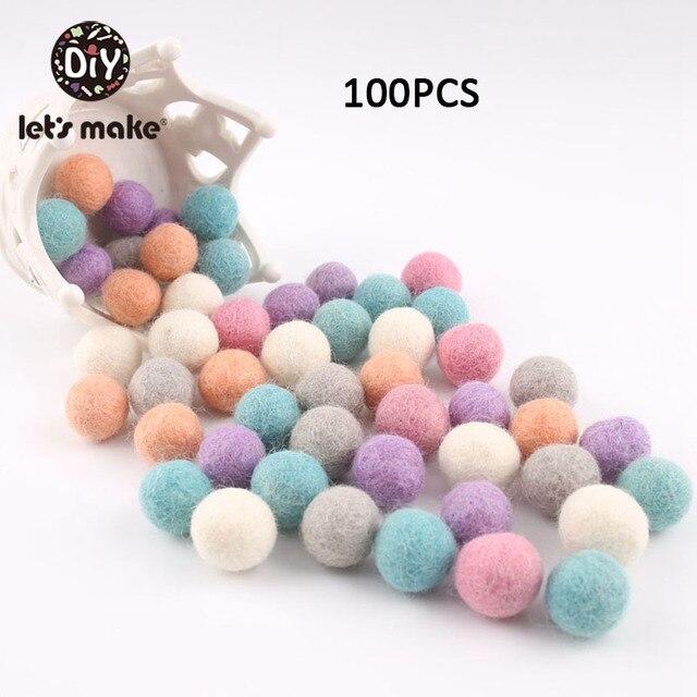 100PCS 20mm 100% Wool Felt Balls DIY Balls Hanging Accessories Candy Color Wool Ball For Kids Room Decoration Nursery Home Decor