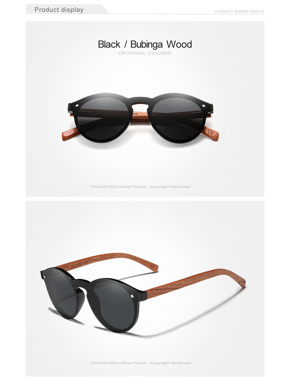 Hdb681ce79a8a43e38031b1a45ef3cd1fr Custom LOGO Natural Wooden Sunglasses GIFTINGER Bubinga Men's Polarized Glasses Wooden Fashion Sun Glasses Original Accessories