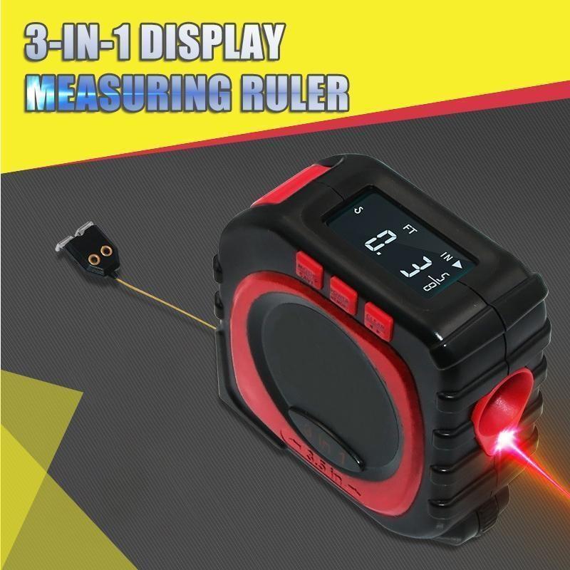 Cinta métrica láser 3 en 1 de 40M, Regla de medición electrónica Digital de ruleta, herramienta de medida con modo de cable