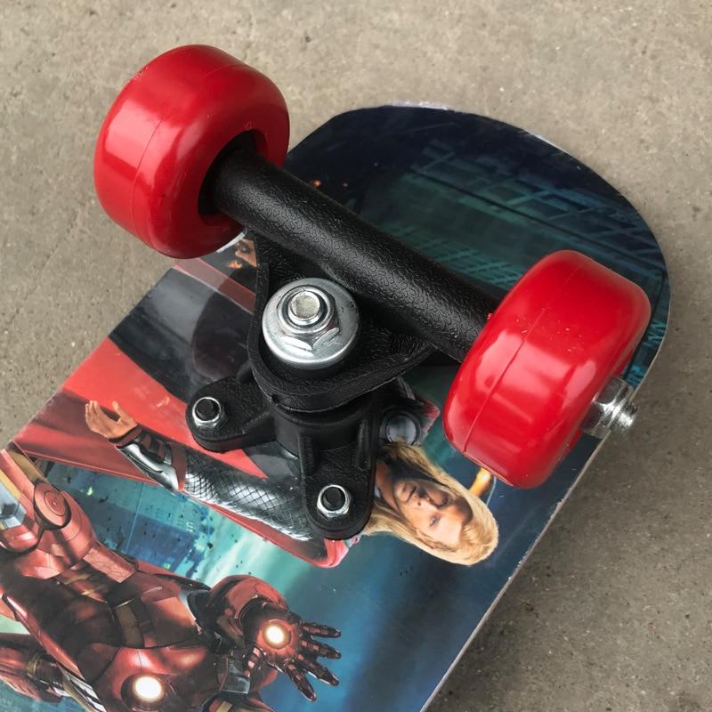 43cm Spiderman Batman Children's Four-wheel Skateboard Double Rocker Cartoon Scooter Beginner Youth Skateboard