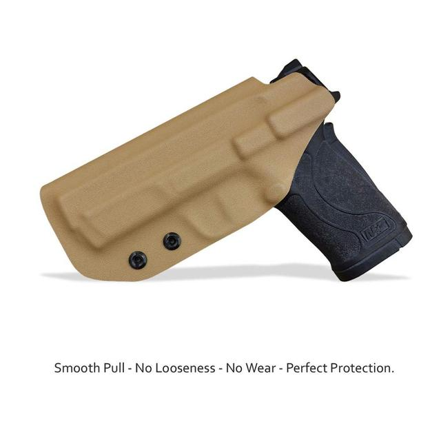 PoLe.Craft IWB KYDEX Gun Holster Fits: Smith & Wesson M&P 380 EZ S&W Pistol Case Inside Carry Concealed Holster Guns Pouch