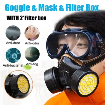 Chemical mask Gas Mask acid dust Respirator Paint Pesticide Spray Silicone filter Lightweight Full Face the new 2017 gas mask medical silicone paint dust dust respirator masks spraying pesticide chemical activated carbon industry