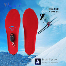 Портативный беспроводной пульт дистанционного управления электрическое Отопление Стельки зимние теплые с подогревом Стельки Тепловой утолщенной обуви колодки для женщин и мужчин