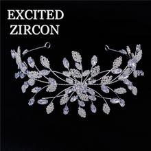 Роскошные аксессуары для волос с кристаллами циркония невесты