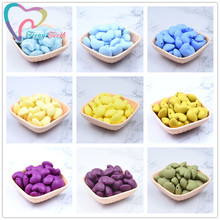 20 PCS Silicone Teething Heart Loose Beads BPA Free Baby Silicone Teether Toys D