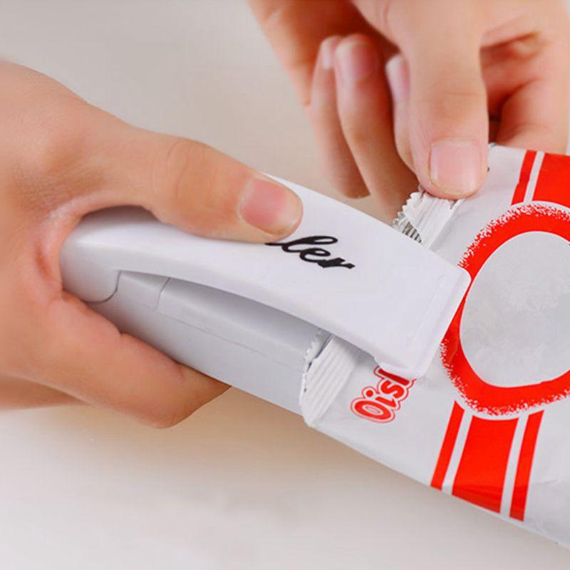 Mini Portable Packaging Manual Sealing Machine Food Bag Package Sealer Capper Sealing Tool Bag Clips Household Multifunction Kit
