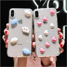 Epoxy Phone Case For iPhone XS XR Max X 7Plus 8Plus 6 6S 7 8 Plus 10 Planet Star Transparent TPU Back Cover Cases New