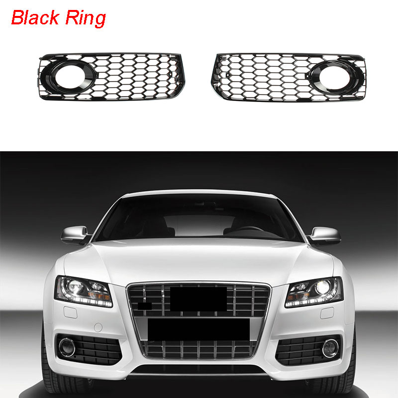 Chorme Front Bumper Radiator Grille Grill For AUDI A5 S5 B8 RS5 2008-2012 11 10