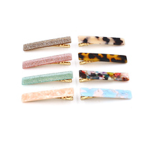 New Hot Resin Acetate Hair Clip Women Accessories Girls Pins Sweet Daily Headwear Barrette For
