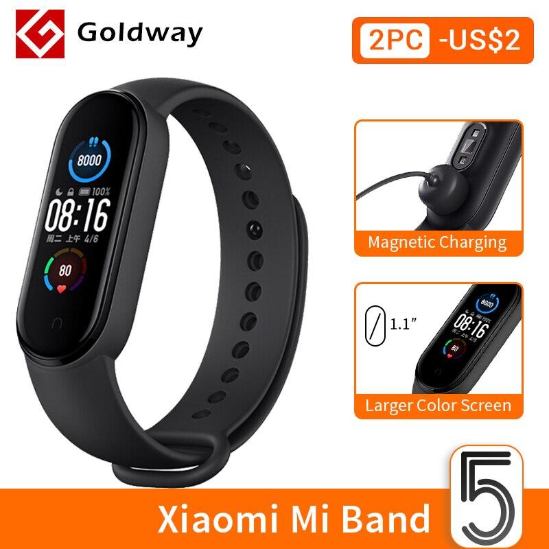 Xiaomi Mi – Bracelet AMOLED intelligent de sport Mibande 5 avec Bluetooth, bande smart de fitness étanche, avec écran, disponible en 4 couleurs |